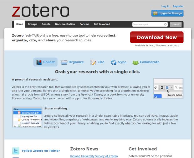 zotero website