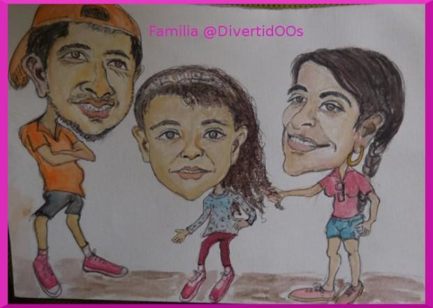 caricatura familia DiveertidOOs